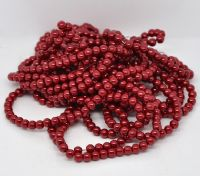 Red 6mm Round Glass Pearls